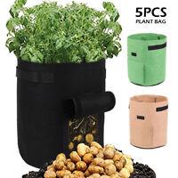 5Pcs Vegetable Planting Bags Grow Bag Potato Cultivation Garden Pot Planters DIY