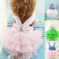 Cute Pet Cat Dog Tutu Dress Skirt Puppy Princess Pet Costume Clothes Apparel