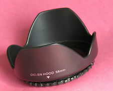 Lens Hood 58mm Screw Mount Flower For Pentax,Nikon,Sigma,Tokina,Sony,Canon Lens