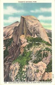 Half Dome And Cloud's Rest From Glacier Point, Yosemite National Park Postcard