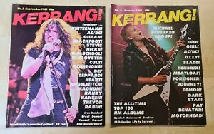 Kerrang! magazines, 1981 Issues: Number 4 & Number 5