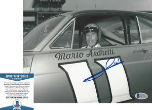 MARIO ANDRETTI FORMULA ONE DRIVER SIGNED 8x10 PHOTO D NASCAR BECKETT COA BAS