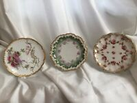 Three Antique Plates Hallmarked, Signed Limoges, Chubbuck , Royal Doulton