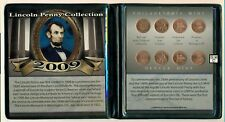 First Commemorative Mint - 2009 P & D  Lincoln Penny Collection Set of 8 Coins