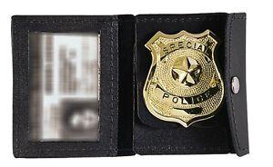 Law Enforcement Badge Holder / ID Holder Rothco 1129 Black Leather