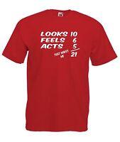 21st BIRTHDAY gift present NEW Men Women T SHIRTS TOP size 8 10 12 14 s m l xl