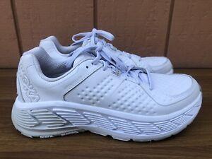 Hoka One One White Leather Athletic