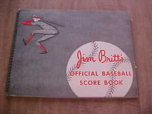1948 Jim Britts Boston Braves/Boston Red Sox Official Baeball Score Book/YB