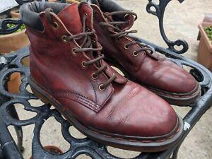 Unisex Dr. Martens 8 Lace Up Leather Doc Martins Boots Shoes