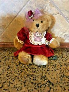 """11"""" Russ Berrie Juliet Plush Tan Bear - EUC"""