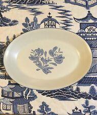 "Pfaltzgraff Yorktowne Large Oval Platter 14""x10"" Stoneware Blue & White SUPERB!"