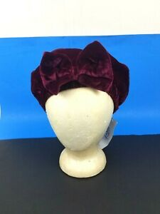 Carole Amper Childern's Kids Burgundy Bow Beret Hat with Tag