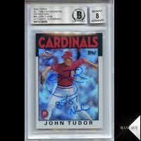2005 Topps All-Time Fan Favorites Refractor /299 John Tudor Auto #98 Rare Insc.