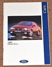 1993 Ford autos Folleto-Fiesta XR2i Escort XR3i Cabrio Mondeo Granada Scorpio