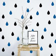 Gota de lluvia pegatina de decoración Niño dormitorio Etiqueta vinilo Mural