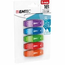 Emtec ECMMD16GC410P5CB 16GB USB Flash Drive - 5 Pack