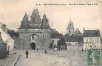 La ferté-Bernard - Place Saint-Julien et Porte de la Ville