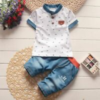 Baby Boys Summer Clothes Newborn Children Clothing Sets for Boy Short Sleeve