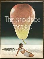 1967 Warner's Line-for-Line Bra Fitter Girdle Print Ad Pear No Shape for a Girl