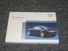 2005 Audi TT Coupe Owner Owner's User Manual Guide Quattro 1.8L 3.2L Turbo V6