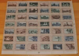 Weeda Canada cc0270 1937 Canadian National Exhibition Cinderella LR Sheet of 42