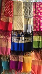 Indian Pakistani Silk Banarasi Dupatta with 26 colour and design