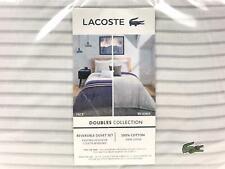 Lacoste Home Doubles Collection Smash 2 Piece Twin Duvet Cover Set Blue $250