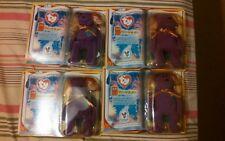 MILLENNIUM the bear (Rare) Mcdonalds 2000 Ty Teenie Beanie Babies lot of 4