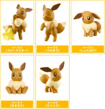 TOMY Pokemon Eevee Collection Mini Figure Gashapon Capsule Toys x5