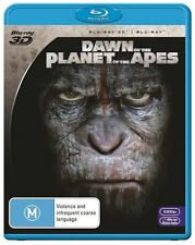 Dawn Of The Planet Of The Apes 3D, 2D & Digital (Blu-ray, 2014, 2-Disc Set) New