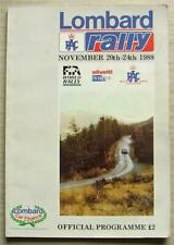 More details for lombard rac rally official programme a4 20-24 nov 1988 world rally championship