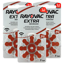 Rayovac Extra Advanced SIZE 312 Hearing aid batteries PR41 1.45V Zinc Air cells