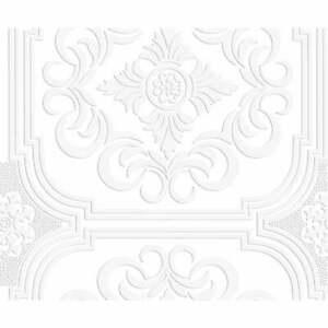 Graham & Brown Blenheim Panel White Paintable Blown Wallpaper 106580 g+b