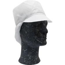 100 Stück Schirmmützen Polypropylen in weiß mit Haarnetz Kopfhauben Vlieshauben