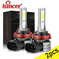 ISINCER H11/H8/H9 LED Headlight Bulb Kit 6000K White High Low Beam Fog Bright