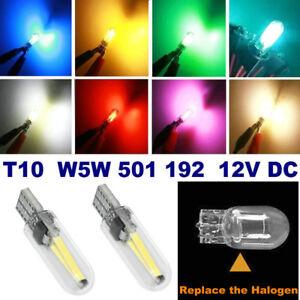 4x T10 Car LED Bulbs 2W COB W5W 501 194 168 Side Light Glass License Plate Light
