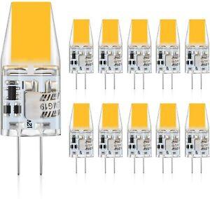 10x G4 LED COB Lampe 6W Birnen Warmweiß AC/DC 12V Kein Flackern Leuchtmittel Neu