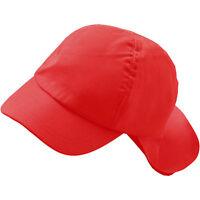 Childs Boys Girls Plain Cotton Legionnaires Summer Sun Hat Cap 2-6yrs Colours