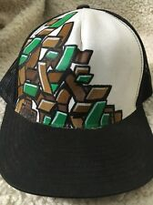 SABA Mesh SnapBack Green And Brown Design Trucker Hat Baseball Cap