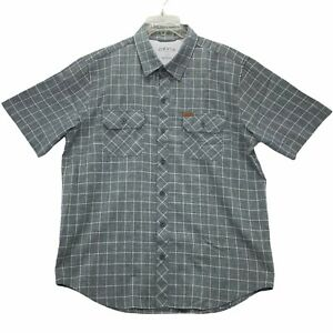 Orvis Men's Hiking/Fishing Short Sleeve Button Front Shirt Size L Large Gray