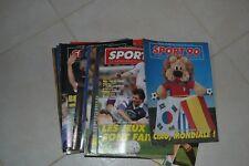 FOOTBALL LOT DE 29 SPORT  MAGAZINES BELGES  ANNEES 86/88/ 89/90/