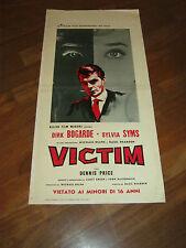 LOCANDINA,1962 VICTIM ,Basil Dearden,Dirk Bogarde,Price,Sylvia Syms