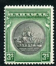 Bahamas SG132a 3/- Brownish Black and Green M/M