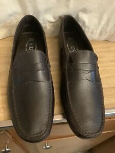 Tod's City Penny Driving Loafer 12 US Gommino Moccasin Shoes Brown Leather
