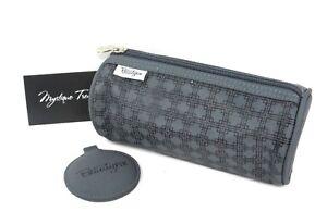 BeautyFix Gray Make Up Bag Travel Mirror Cosmetic Beauty Case Super Cute, Rare