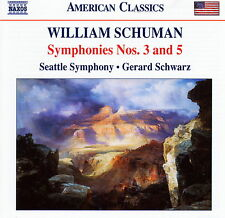 William Schuman - Symphonies Nos. 3 and 5 - American Classics   * BRAND NEW CD *