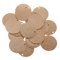 20x Copper Flat Round Circle Blank Coin Charm Jewelry Pendant 14mm