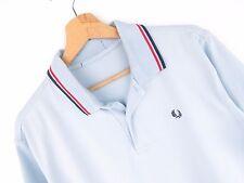 jy2844 Fred Perry Polohemd Original Premium Vintage verblichen hellblau Größe M