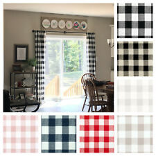 Plaid Buffalo Check Curtains Black Red Curtain Panels Rustic Farmhouse Decor