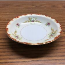 Vintage Occupied Japan Mira China Desert Bowl    Floral Gold Trim